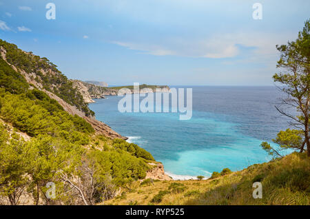 Scenic mountainous landscape on Mallorca, Spain. - Stock Image