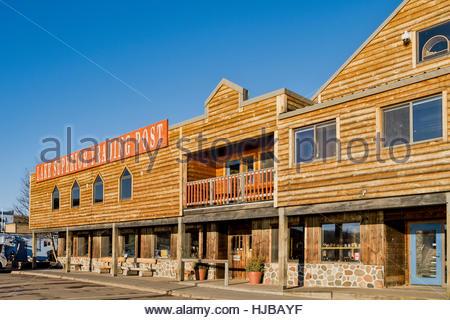 Lake Superior Trading Post, Grand Marais, Minnesota - Stock Image
