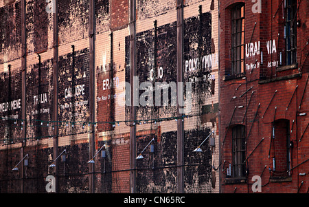 Exterior of London warehouse with great colours and brickwork - Stock Image