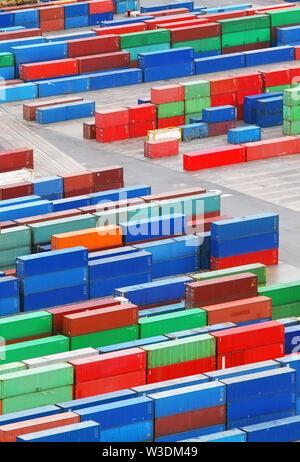 Cargo container in port - trasnportation - Stock Image