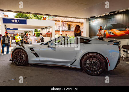 Turin, Piedmont, Italy. 22nd June 2019. Italy Piedmont Turin Valentino park Auto Show 2019 - Chevrolet Corvette Credit: Realy Easy Star/Alamy Live News Credit: Realy Easy Star/Alamy Live News - Stock Image