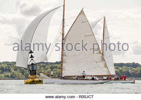 Yacht at sea - Stock Image