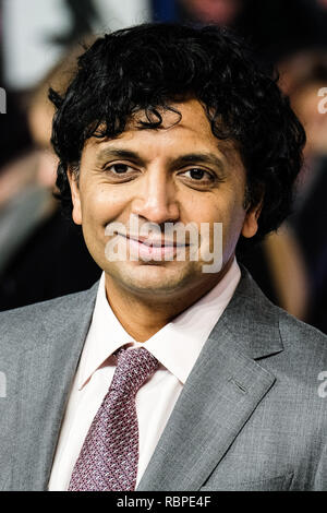Director M. Night Shyamalan at the UK Premiere of GLASS on Wednesday 9 January 2019 held at Curzon, Mayfair, London. Pictured: M. Night Shyamalan. Picture by Julie Edwards/LFI/Avalon.  All usages must be credited Julie Edwards/LFI/Avalon. - Stock Image