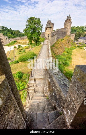 Fougeres castle in Bretagne, France. - Stock Image
