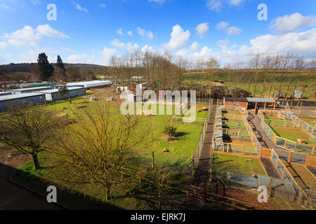 Animal enclosures at Berkshire College of Agriculture - Stock Image