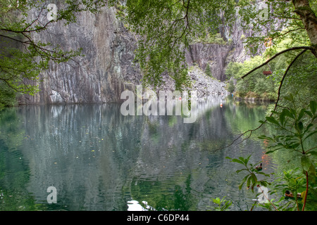 The Vivian slate quarry at Llanberis, Snowdonia National Park, Wales. - Stock Image