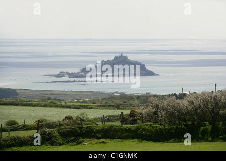 St Michael's Mount, Cornwall, UK. - Stock Image