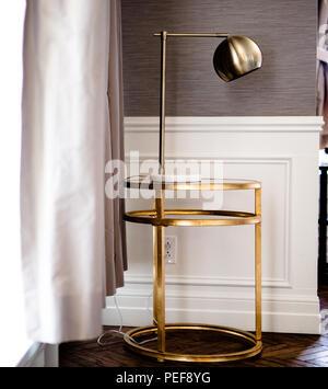 Brass Light fixture - Stock Image