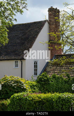 Little and large windows in old manor house Milton Cambridge 2019 - Stock Image
