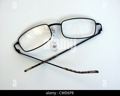 Who trod on my reading spectacles? - Stock Image
