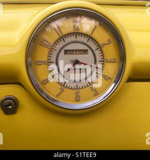 Buick eight clock from the 1950's - Stock Image