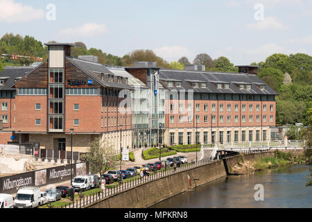 The Radisson Blu Hotel, Durham city riverside, England, UK - Stock Image