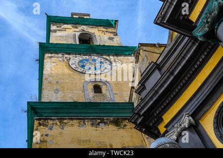 Basilica della Santissima Annunziata Maggiore in the Old Town of Naples, Italy - Stock Image