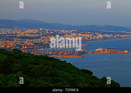 aerial view of visakhapatnam city, - Stock Image