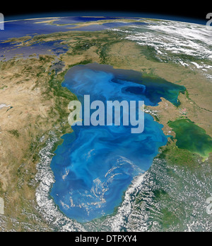 Natural Carbon Dioxide sequestration via phytoplankton in the Black Sea. - Stock Image