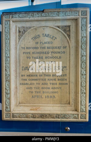Liverpool Kensington Deane Road Cemetery Old Hebrew Congregation 1837 gravestone David Lewis died 1885 founder Lewis & Bon Marche department stores - Stock Image