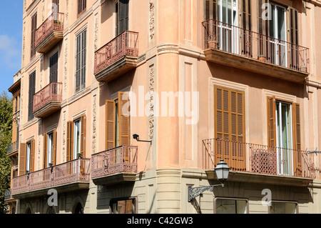 Altes Haus, Plaça de la Reina, Palma, Mallorca, Spanien, Europa. - Old house, Plaça de la Reina, Palma, - Stock Image