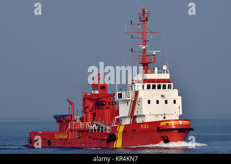 Pollution Control Vessel Kiel - Stock Image