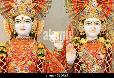 In a Hindu temple - Stock Image