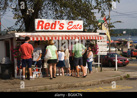 Famous Red's Diner Wiscasset, Maine - Stock Image