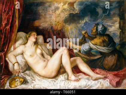 Titian, Danaë (Hermitage Version), painting, c. 1560 - Stock Image