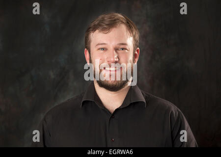 Walsall, West Midlands, UK. 1st March 2015. Thomas Russon Studio Director at the new Big Centre TV channel. Big - Stock Image