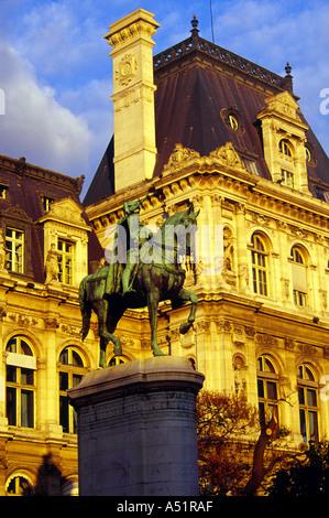 Statue in Place de la Concorde, Paris, France - Stock Image