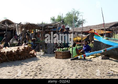 Market at Tulear, Anakao, Madagascar, Africa. - Stock Image