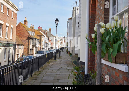 All Saint's Street, Hastings, East Sussex, UK - Stock Image