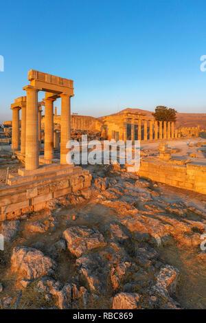 Greece, Rhodes, Lindos Acropolis - Stock Image