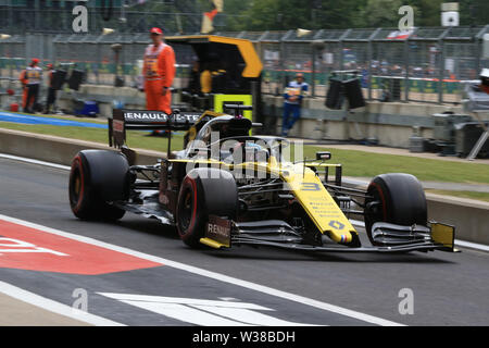 Silverstone Circuit. Northampton, UK. 13th July, 2019. FIA Formula 1 Grand Prix of Britain, Qualification Day; Renault Sport F1 Team, Daniel Ricciardo Credit: Action Plus Sports/Alamy Live News - Stock Image