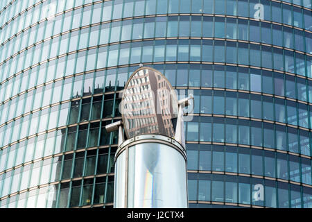 Germany, Berlin. Reflection in lightpipe at Potsdam Square Train Station. Credit as: Wendy Kaveney / Jaynes Gallery - Stock Image