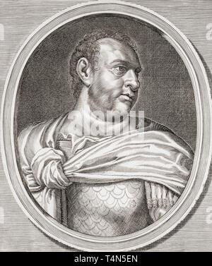 Vitellius, 15 - 69 AD.  Roman emperor. - Stock Image