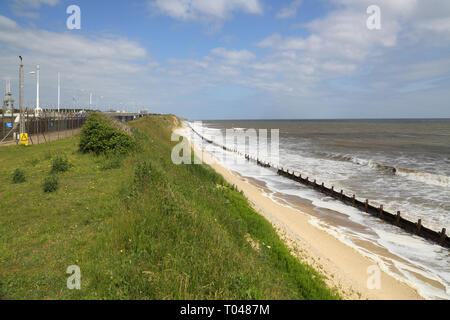bacton north sea gas treminal  on the norfolk coast - Stock Image