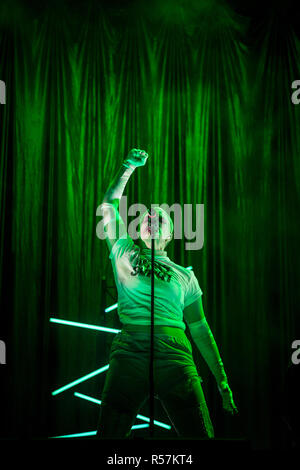 NOVI SAD, SERBIA - JULY 13, 2018: Fever Ray, alias Karin Elisabeth Dreijer, a Swedish singer and songwriter, performing on stage during the of Exit Fe - Stock Image