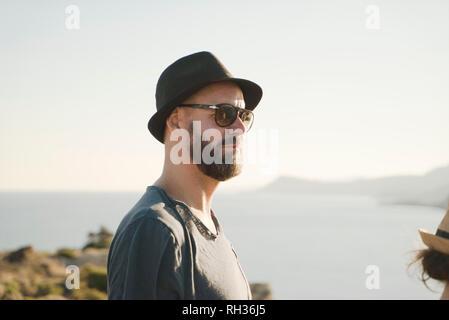 Man at sea - Stock Image