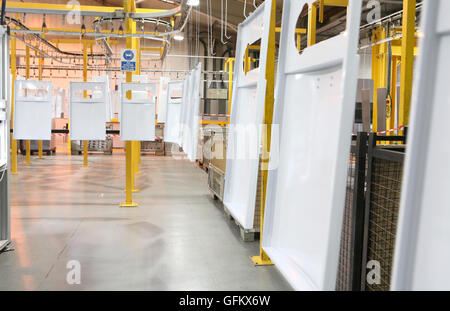 Industrial manufacturing facility plant modern factory - Stock Image