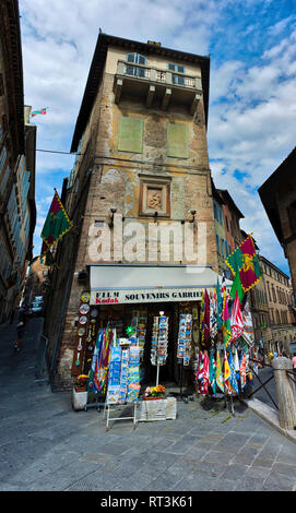 Souvenir shop in Siena, Italy. - Stock Image