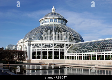 Enid A. Haupt Conservatory at the New York Botanical Garden, Bronx, NY, USA - Stock Image