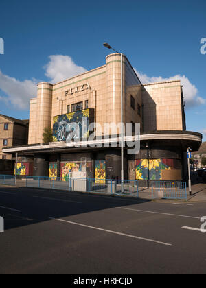 Port Talbot Plaza cinema building, derelict since 1999.  Has a large 'coming Soon' sign West Glamorgan, - Stock Image