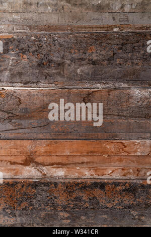 Texture of wooden boards for background and design - Stock Image