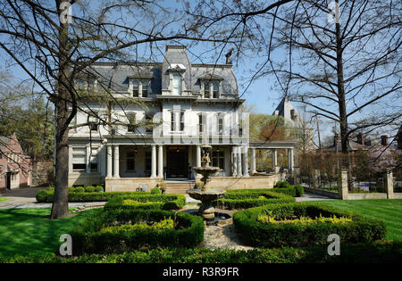 Negley-Gwinner-Harter House, the second oldest surviving mansion on Pittsburgh's Millionaire's Row, Pittsburgh, Pennsylvania, USA - Stock Image