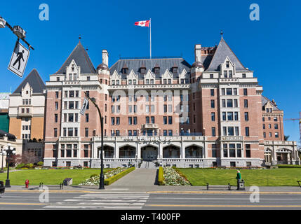 Fairmont Empress Hotel in Victoria, BC, Canada in the Spring. - Stock Image