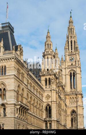 Neues Rathaus (City Hall) building, Vienna, Austria. - Stock Image