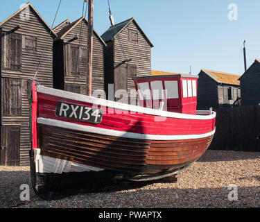 The Stade, Hastings Bedach, East Sussex, UK - Stock Image