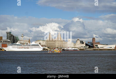 Celebrity Silhouette Cruise Liner In Liverpool. - Stock Image