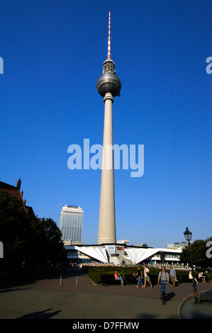 Europe, Germany, Germany, Berlin, Ostberlin, television tower, Fernsehturm - Stock Image