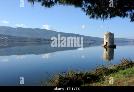 italy, tuscany, argentario, orbetello, lagoon, ancient windmill - Stock Image
