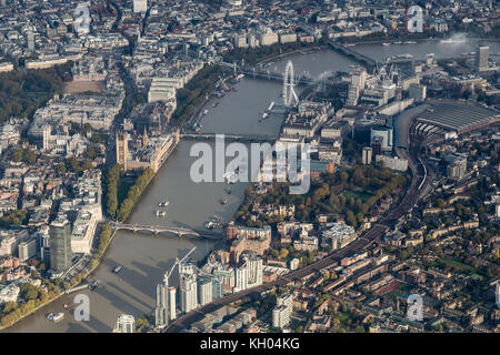 London aerial view - Stock Image