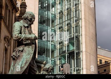 James Watt Statue Leeds Yorkshire England - Stock Image